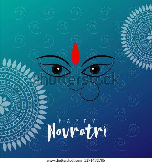 Happy Navratri and Durga puja abstract designs.