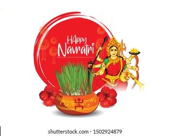 happy Navratri goddess durga Indian Festival of Navratri, durga puja