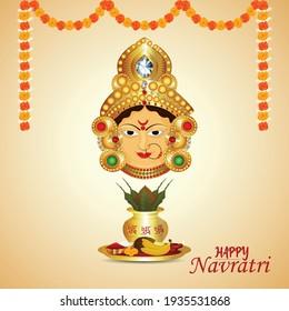 Happy navratri special sale discount with Creative illustration of dandiya girl