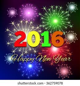 creative happy new year 2018 bursts stock vector royalty free