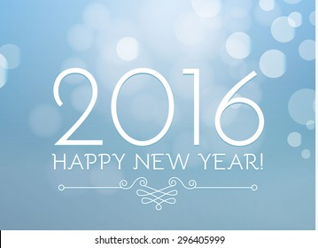 Happy New 2016 Year. Vector illustration