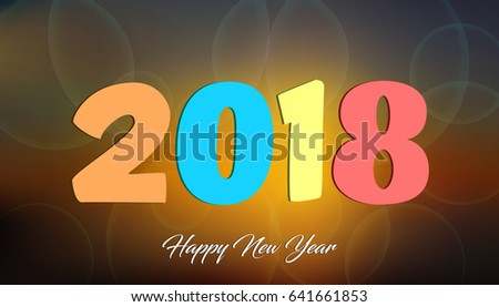 happy new 2018 year modern design vector illustration wallpaper
