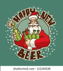 Happy New Beer, vector 01