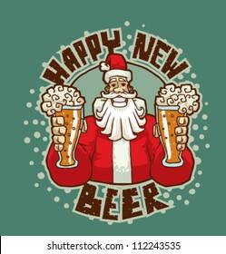 Happy New Beer, vector 03