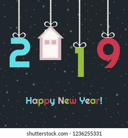 Happy New Home 2019 Abstract Card