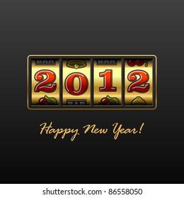 Happy New Year 2012! Vector.