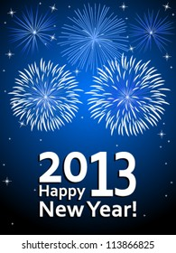 Happy New Year 2013 - vector illustration