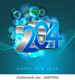 happy new year 2014 celebration flyer poster banner or invitation with shiny text on