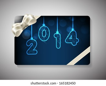 Happy New Year 2014 celebration gift card.