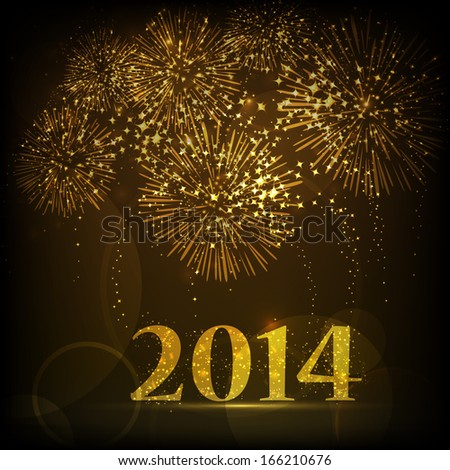 happy new year 2014 celebration flyer stock vector royalty free