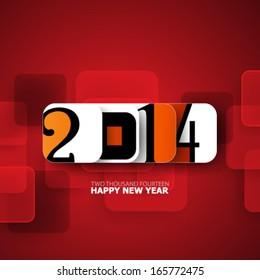Happy New Year 2014 Modern Design Background