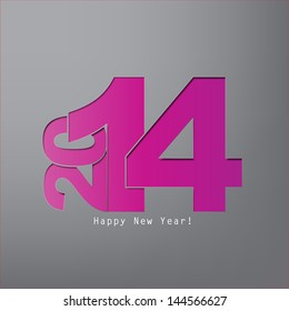 Happy new Year 2014 with space for text (EPS 10  Vector)