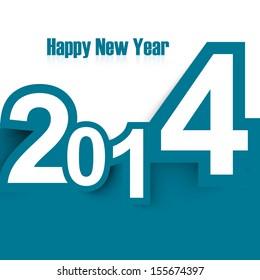 Happy New Year 2014 stylish colorful design