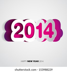 Happy New Year 2014 velvet vector card