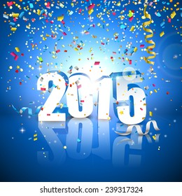 Happy New Year 2015 -  greeting card