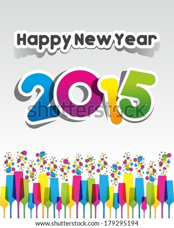 Happy new year 2015 greeting card stock vector royalty free happy new year 2015 greeting card vector illustration m4hsunfo