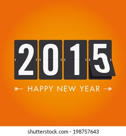 Happy new year 2015, mechanical timetable