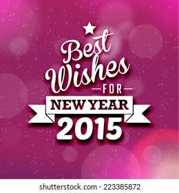 Happy New Year 2015 Season Greetings Vector Design