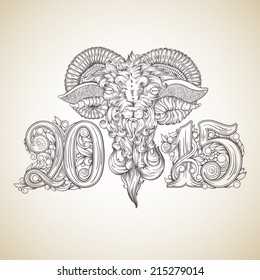 Happy new year 2015. Year of the sheep