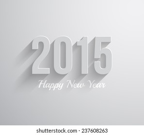 Happy new year 2015 text design background with long shadow. Vector eps 10