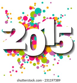 Happy new year 2015 vector illustration.