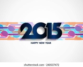 Happy new year 2015 vector background design.