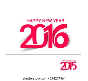 Happy new year 2016 & 2015 Text Design
