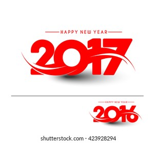 Happy new year 2016 and 2017 Text Design vector