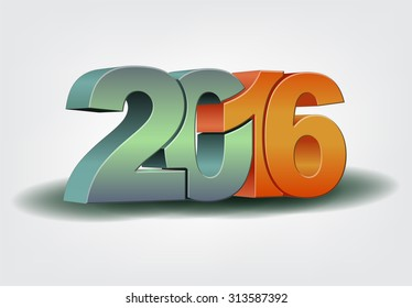 Happy new year 2016 celebration greeting card design.