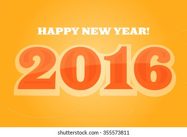Happy New Year 2016 Color