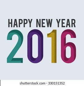 happy new year 2016 design, vector illustration eps10 graphic