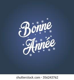 Happy new year 2016 vector (French Speak: Bonne Annee)