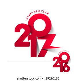 Happy new year 2017 or 2016 Text Design vector