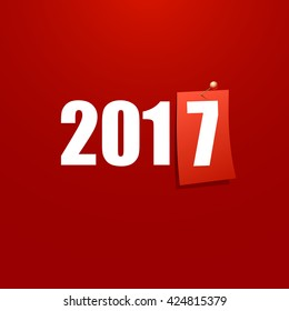 Happy New Year 2017 design card vector