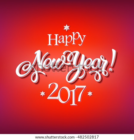 Happy New Year 2017 Signs On Stock Vector (Royalty Free) 482502817 ...