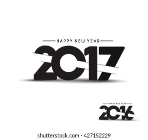 Happy new year 2017 Text Design vector