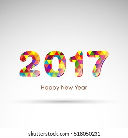 Happy new year 2017 Text Design vector.