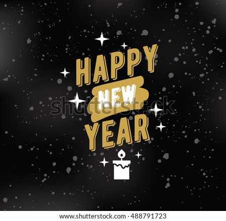 Happy New Year 2017 Text Design Stock Vector Royalty Free