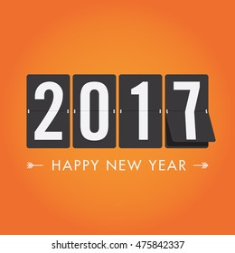 Happy new year 2017 timetable, editable vector design
