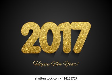 Happy New Year 2017. Vector New Year background