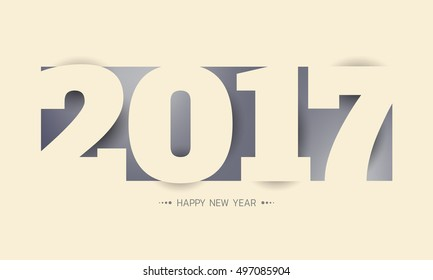 Happy new year 2017 vector background year of rooster can be use for your artwork homepage or website