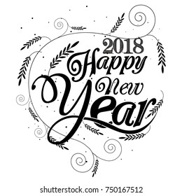Happy new year 2017 Vector Design Background.
