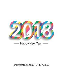 Happy new year 2018 - 2017 Text Design Vector illustration