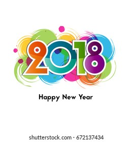 Happy New Year 2018, background or element of a holidays card