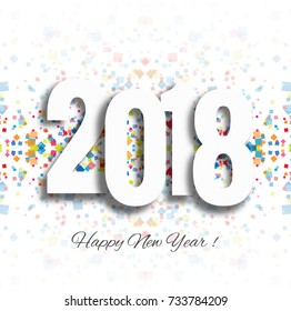 Happy New Year 2018 Background