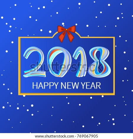 happy new year 2018 the background design greeting card poster banner