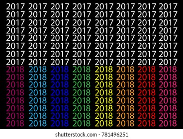 Happy New Year 2018 Background.-Illustration,Season, Number, Banner - Sign,