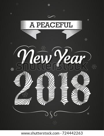 happy new year 2018 celebration banner