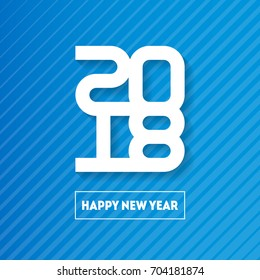 Happy New Year 2018. Cover of business diary for 2018. Vector brochure design template. Vector greeting card with halftone gradient