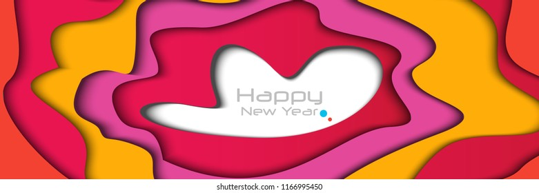 happy new year 2018 creative design vector illustration for banner and abstract background
